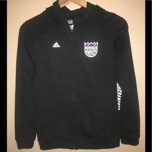 NBA Sacramento King's boys zip up hoodie